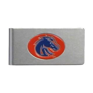 Boise State Broncos Sports Team Logo Brushed Metal Money Clip