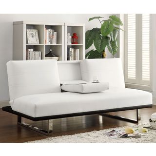 Galaxy Mid Century Sleek Sofa Bed with Drop Down Center Console