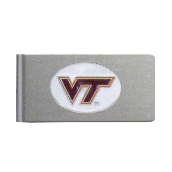 Virginia Tech Hokies Sports Team Logo Brushed Metal Money Clip