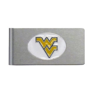 West Virginia Mountaineers Sports Team Logo Brushed Metal Money Clip