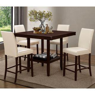 Medlin Contemporary Espresso 5-piece Counter Height Dining Set