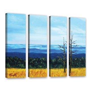 ArtWall 'Gene Foust's Serene Mountain Tops' 4-piece Gallery Wrapped Canvas Set
