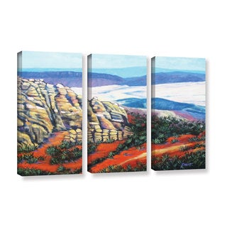 ArtWall 'Gene Foust's Rocky Mountain Living' 3-piece Gallery Wrapped Canvas Set