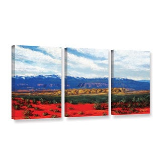 ArtWall 'Gene Foust's Mountain Side Livng' 3-piece Gallery Wrapped Canvas Set