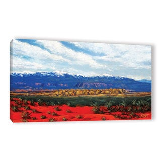 ArtWall 'Gene Foust's Mountain Side Livng' Gallery Wrapped Canvas