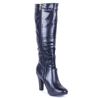 Women's Textured Tall Boots