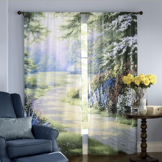 Endless Summer Window Art 84-inch Curtain Panel Pair