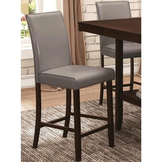 Medlin Contemporary Grey Parson Style Counter Height Stools (Set of 2)