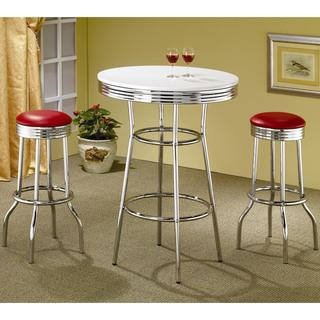 Haverstraw Nostalgic Retro Chrome Bar Set