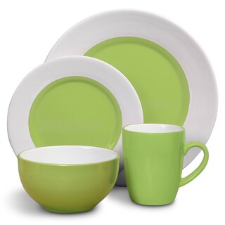 Gibson Style Deluxe 16-piece Green Dinnerware Set