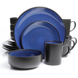 Gibson Novabella 16-piece Cobalt Dinnerware Set