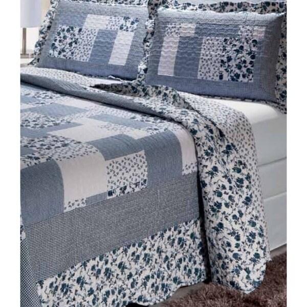 Periwinkle Dash 3-piece Quilt Set