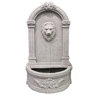 Modern Home Courtyard Lion's Head Wall Mount/ Floor Waterfall Fountain