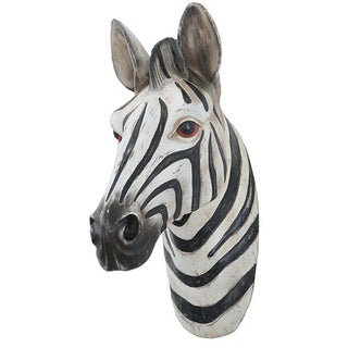 Modern Home Safari Jungle Zebra Wall Plaque