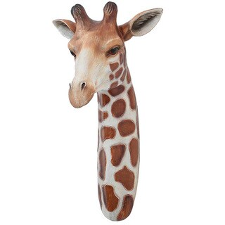 Modern Home Safari Giraffe Wall Plaque