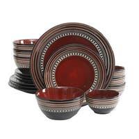 Gibson Elite Cafe Versailles 16-piece Double Bowl Red Dinnerware Set