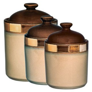 Casa Estebana Stoneware 3-piece Canister Set