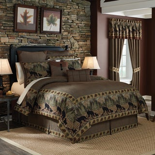 Croscill Grand Lake Jacquard Woven Lodge Inspired 4-piece Comforter Set