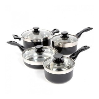 Oster Cramerton Black 8-piece Cookware Set