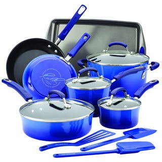 Rachael Ray Hard Enamel Nonstick 14-Piece Cookware Set with $30 Mail-in rebate