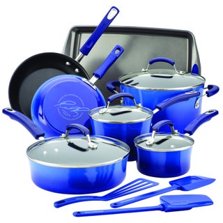 Rachael Ray Hard Enamel Nonstick 14-Piece Cookware Set (2 options available)