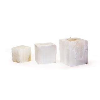 Set of 3 Sq Crystal Votives