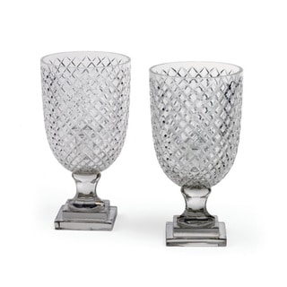 Link to Hand-Cut Glass Cut Hurricanes (Set of 2) Similar Items in Accent Pieces