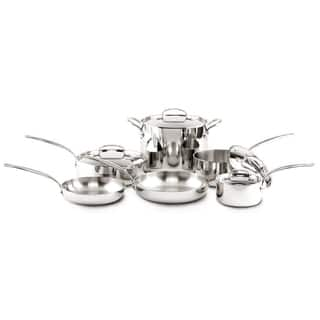 GreenPan Barcelona Triple Layered Stainless Steel Non-Stick Ceramic 10-piece Cookware Set|https://ak1.ostkcdn.com/images/products/11390865/P18358112.jpg?impolicy=medium