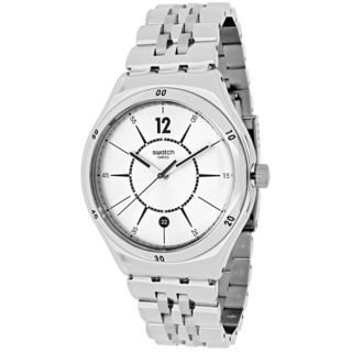Swatch Men's YWS406G Moonstep Round Silver-tone Stainless Steel Bracelet Watch