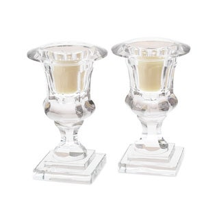 Hip Vinatge Crystal Urn Hurricanes (Set of 2)