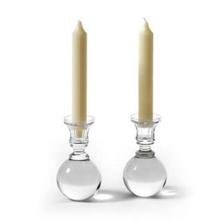 Hand Blown Cue Ball Candlesticks (Set of 2)