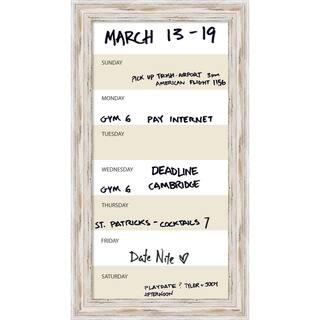 Alexandria Whitewash Vertical Dry-Erase Beige Week Calendar' Message Board 15 x 27-inch|https://ak1.ostkcdn.com/images/products/11390947/P18358218.jpg?impolicy=medium