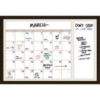 Coffee Beige Quatrefoil 36 x 24 Dry-Erase Calendar' Message Board 38 x 26-inch