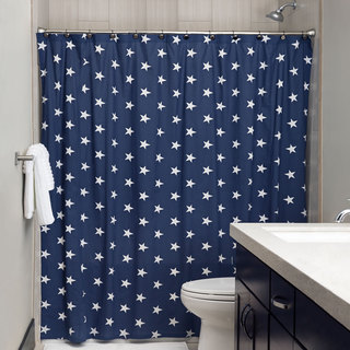 "Andrew Charles All American Collection 72"" Navy Shower Curtain"