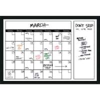 Mezzanotte White Dry-Erase Calendar' Message Boards 38 x 26-inch