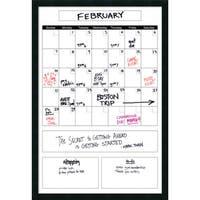 Mezzanotte White Big Dry-Erase Calendar' Message Board 26 x 38-inch