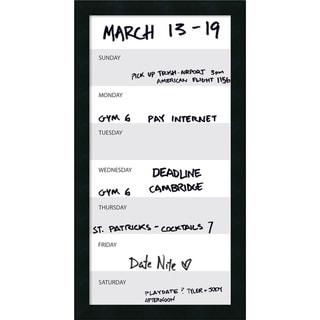 Mezzanotte Vertical Dry-Erase Week Calendar' Message Board 14 x 26-inch