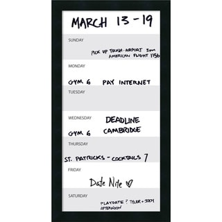 Mezzanotte Vertical Dry-Erase Week Calendar' Message Board 14 x 26-inch