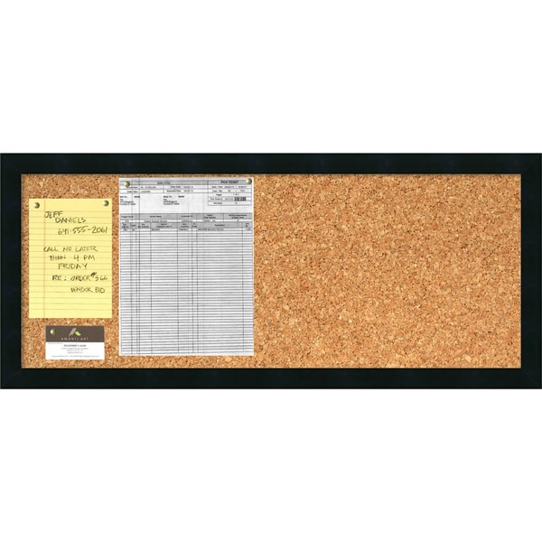 'Mezzanotte Cork Board - Panel' Message Board 32 x 14-inch