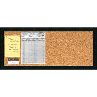 'Mezzanotte Cork Board - Panel' Message Board 32 x 14-inch