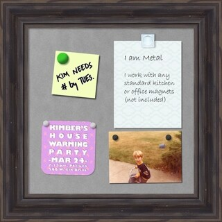 'Rustic Pine Magnetic Board 16 x 16-inch