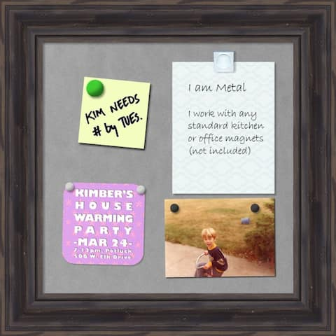 'Rustic Pine Magnetic Board 16 x 16-inch - 15 x 15-inch
