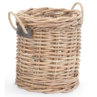 Crafted Home's Woodrow Medium Round Basket