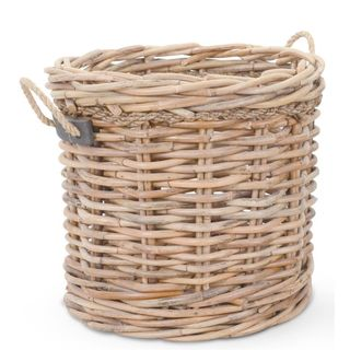 Crafted Home's Woodrow Large Round Basket