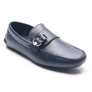 Versace Collection Men's Navy Medusa Head Buckle Moccasins|https://ak1.ostkcdn.com/images/products/11391038/P18358304.jpg?impolicy=medium