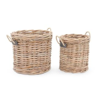 Crafted Home's Woodrow Round Basket Set