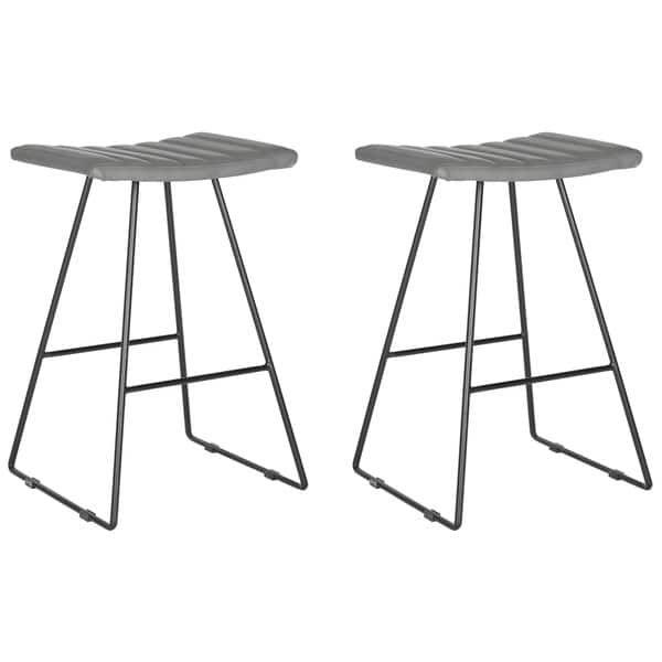 Fabulous Shop Safavieh 26 8 Inch Akito Grey Counter Stool Set Of 2 Cjindustries Chair Design For Home Cjindustriesco