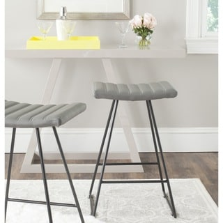 Safavieh 26.8-inch Akito Grey Counter Stool (Set of 2)