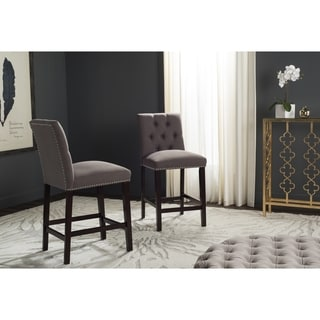 Safavieh Nrah Dark Taupe Counterstool (Set of 2)