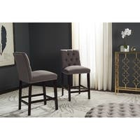 Safavieh Norah Dark Taupe Counter Stool (Set of 2)